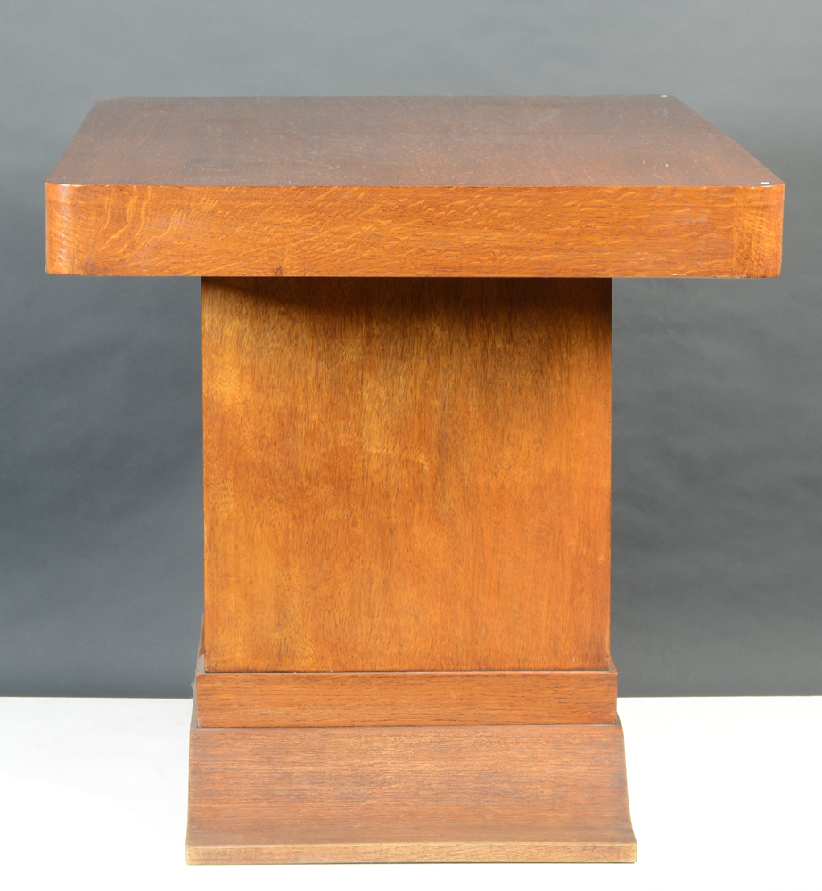 Modernist Table — Side view, showing the very austere design
