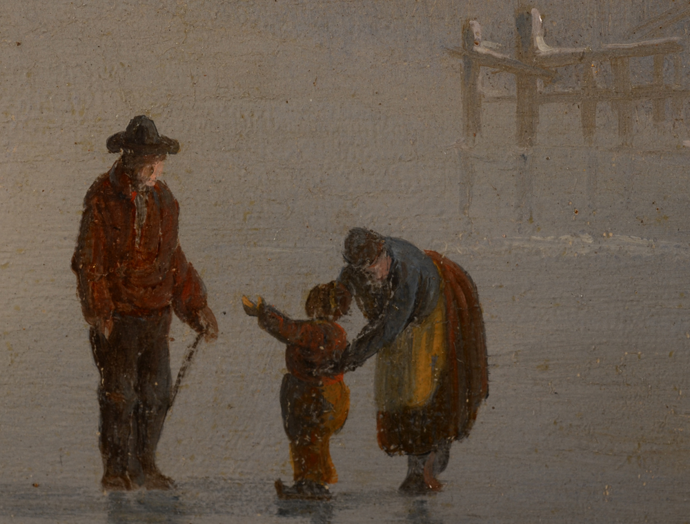 Albert Moerman — Detail of the figures on the ice.