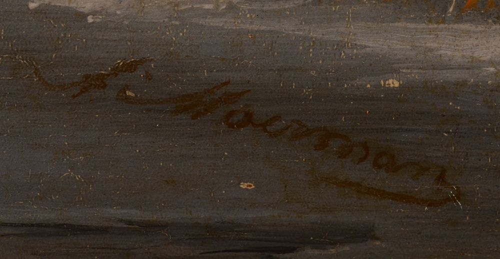 Albert Moerman — Signature of the artist, bottom right