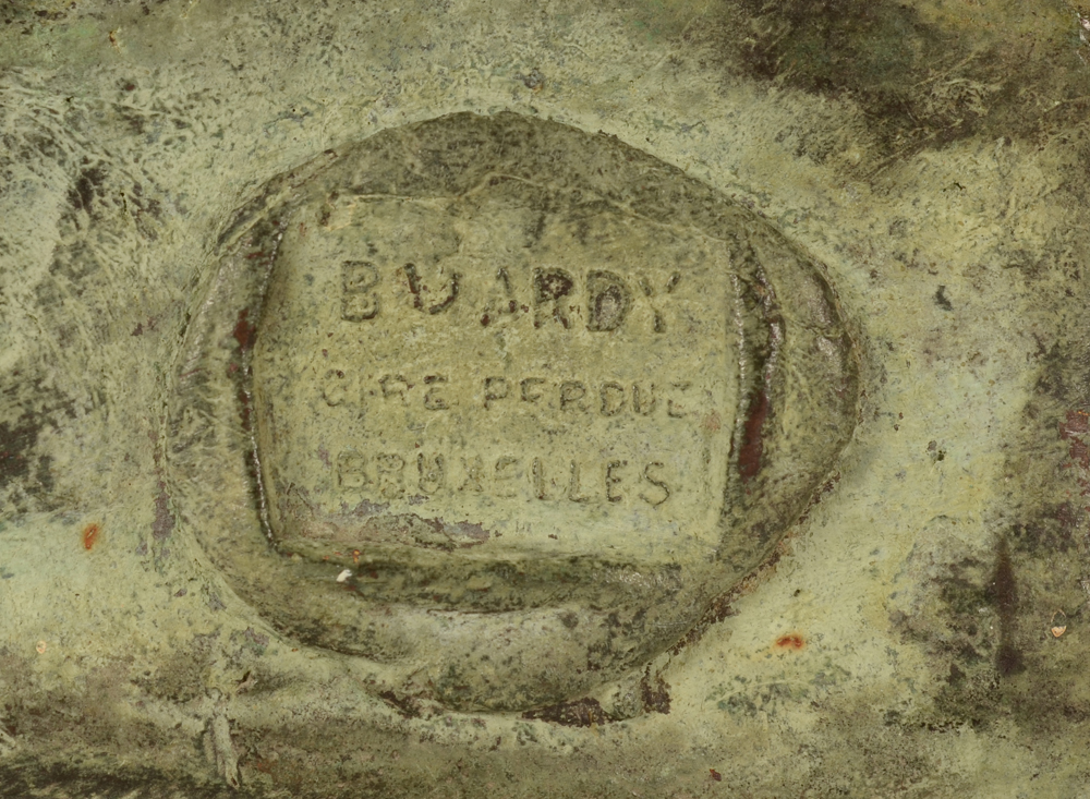 Constant Montald — Foundry mark of Batardy in Brussels on the side of the base.