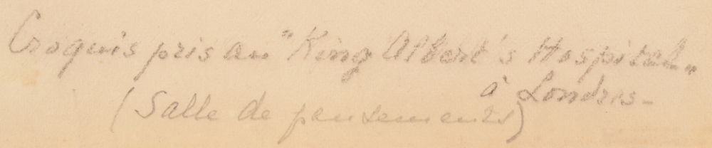Jenny Montigny — Title of the work, written by the artist in pencil.