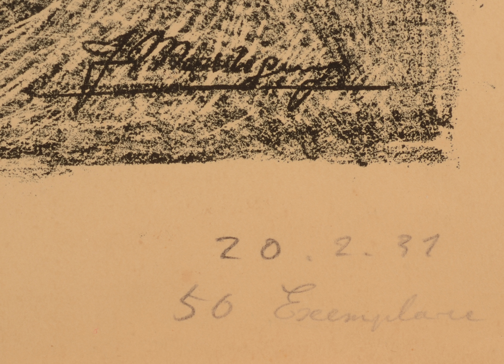 ???Jenny Montigny — Justification of the print and date, probably by the artist