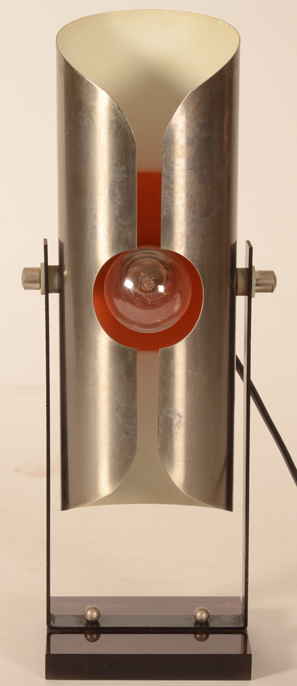 Moonlight lamp — Front, in vertical stand during the day