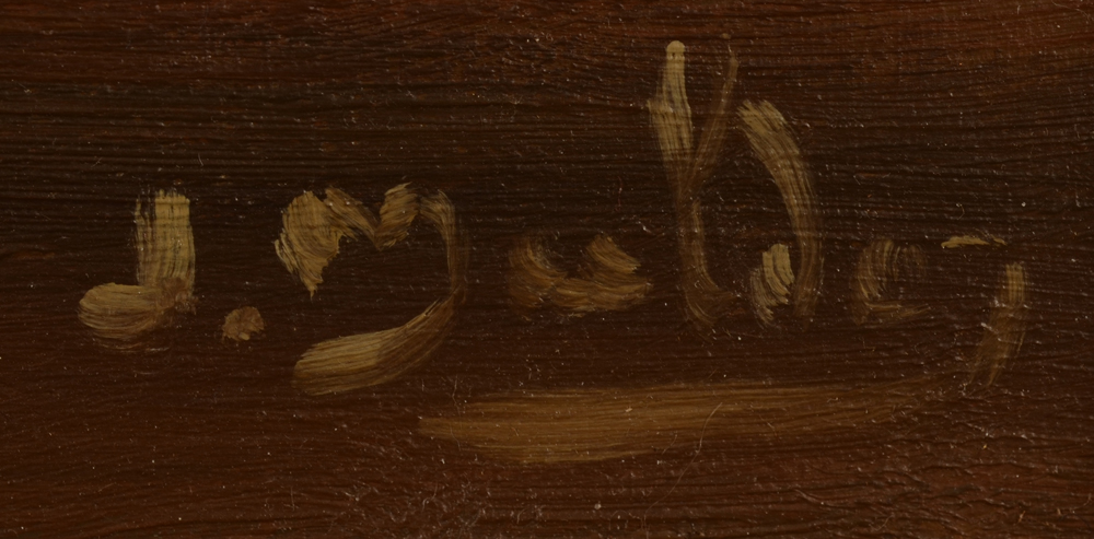Jan Mulder — Signature of the artist, bottom right