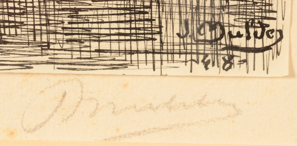 Jan Mulder — Signature of tke artist and date in ink, bottom right and again sigend in pencil