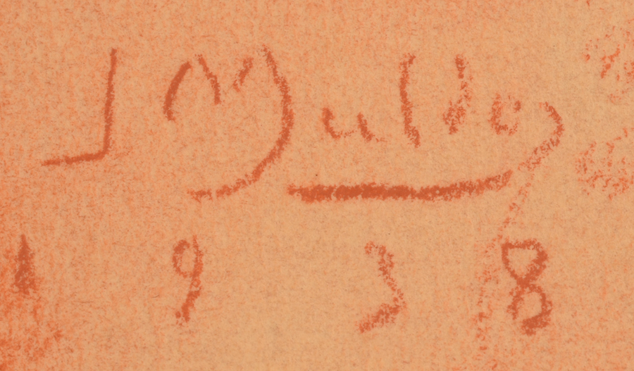Jan Mulder — Signature and date, bottom right<br>