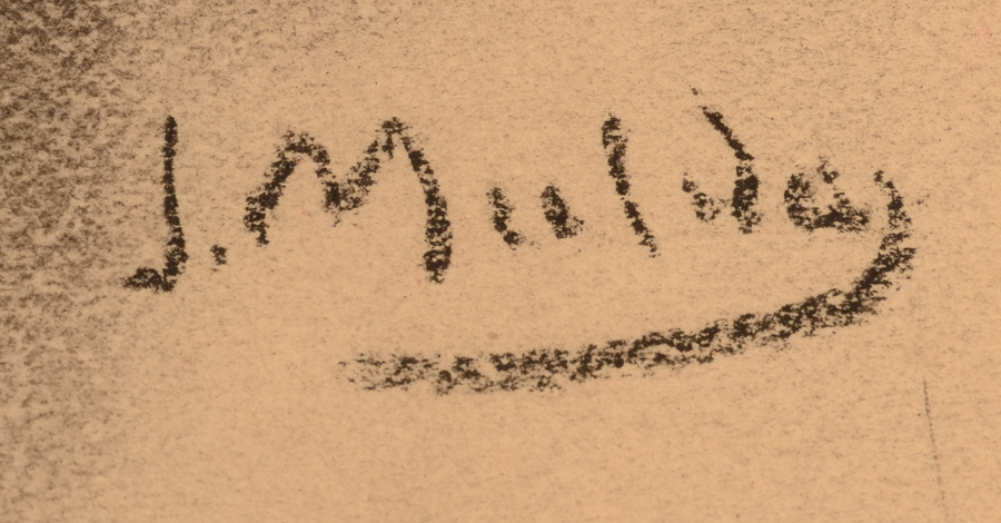 Jan Mulder — Signature of the artist right