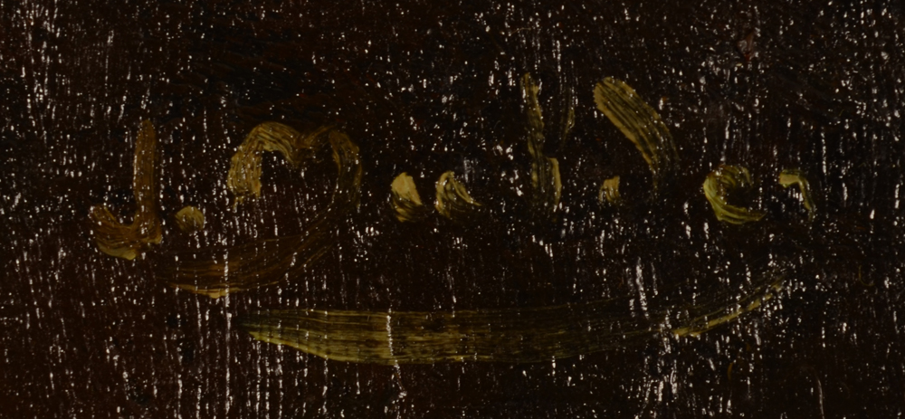 Jan Mulder — Signature of the artist, top right