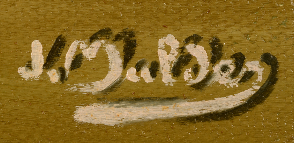 Jan Mulder — Typical signature, with shadow, by the artist, bottom right