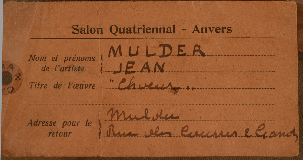 Jan Mulder — Exhibition label at the back