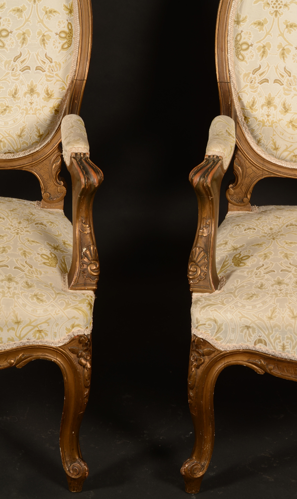 Napoleon III pair of armchairs — <p>Detail of the arm rests</p>