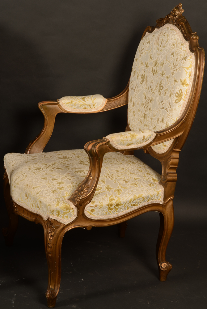 Napoleon III pair of armchairs — <p>Side view of one of the chairs</p>