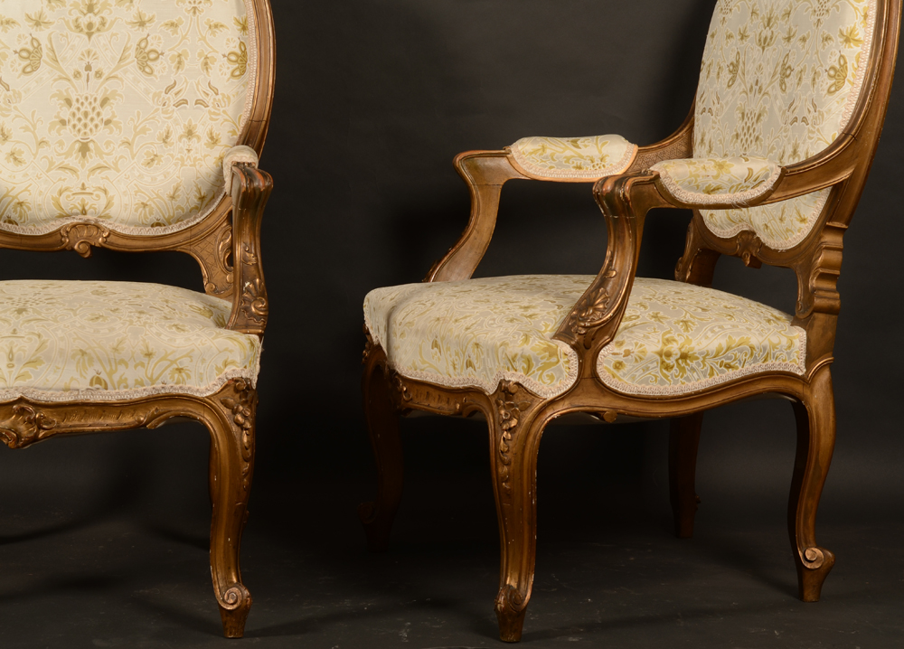 Napoleon III pair of armchairs — <p>Front and side view</p>