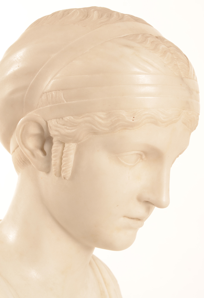 Neo classical bust — Detail of the head