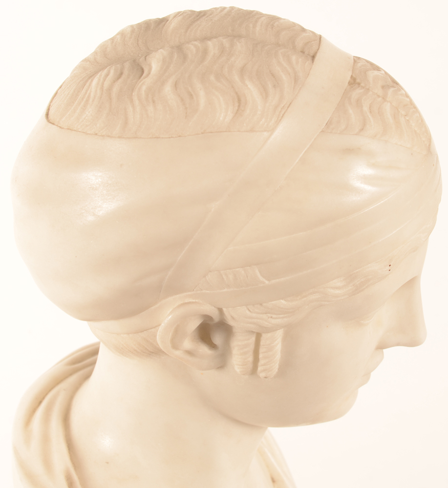 Neo classical bust — Detail of the treatment of the hair