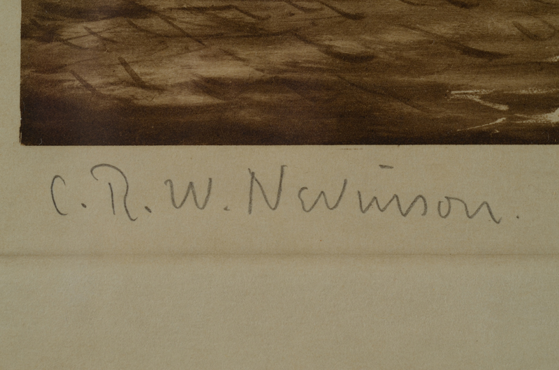 C.R.W. Nevinson — Signature of the artist bottom left.