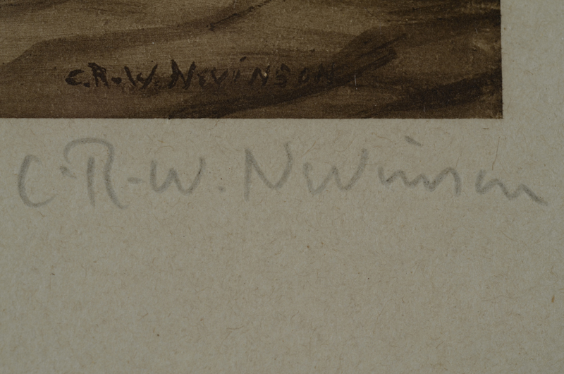 C.R.W. Nevinson — Signature of the artist in pencil, bottom right.