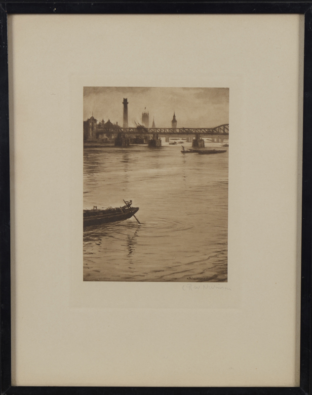 C.R.W. Nevinson — The Thames looking towards Westminster