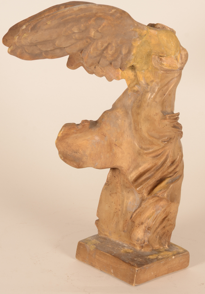 Niké of Samothrace — Detail of the wing with some restauration