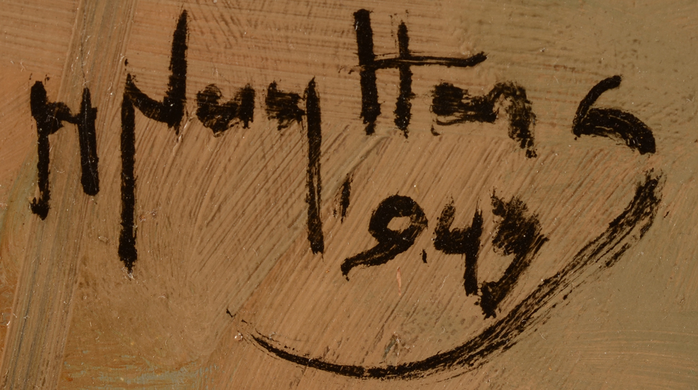 Henri Nuyttens — Signature of the artist and date, bottom left