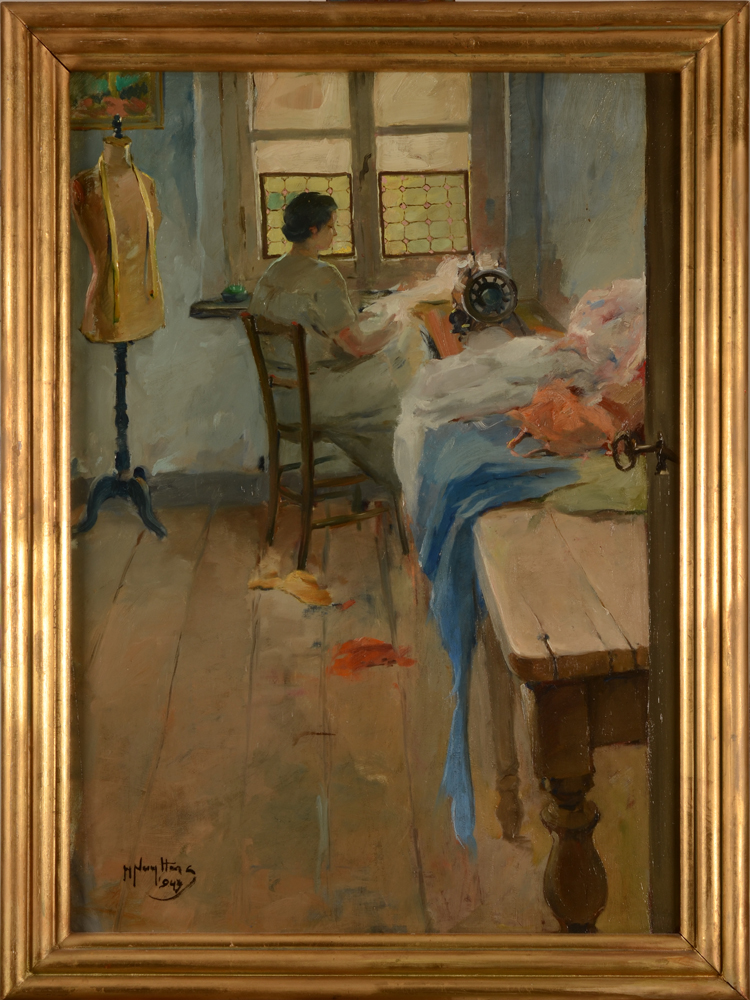 Henri Nuyttens — The painting with its original frame, the frame with minor losses