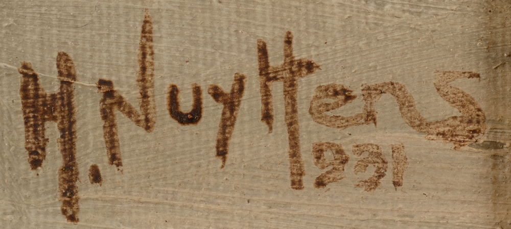 Henri Nuyttens — Signature of the artist and date, bottom right