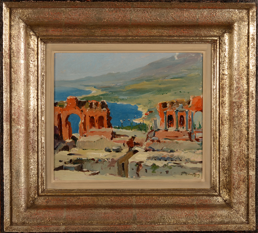Henri Nuyttens — The painting with its original frame.