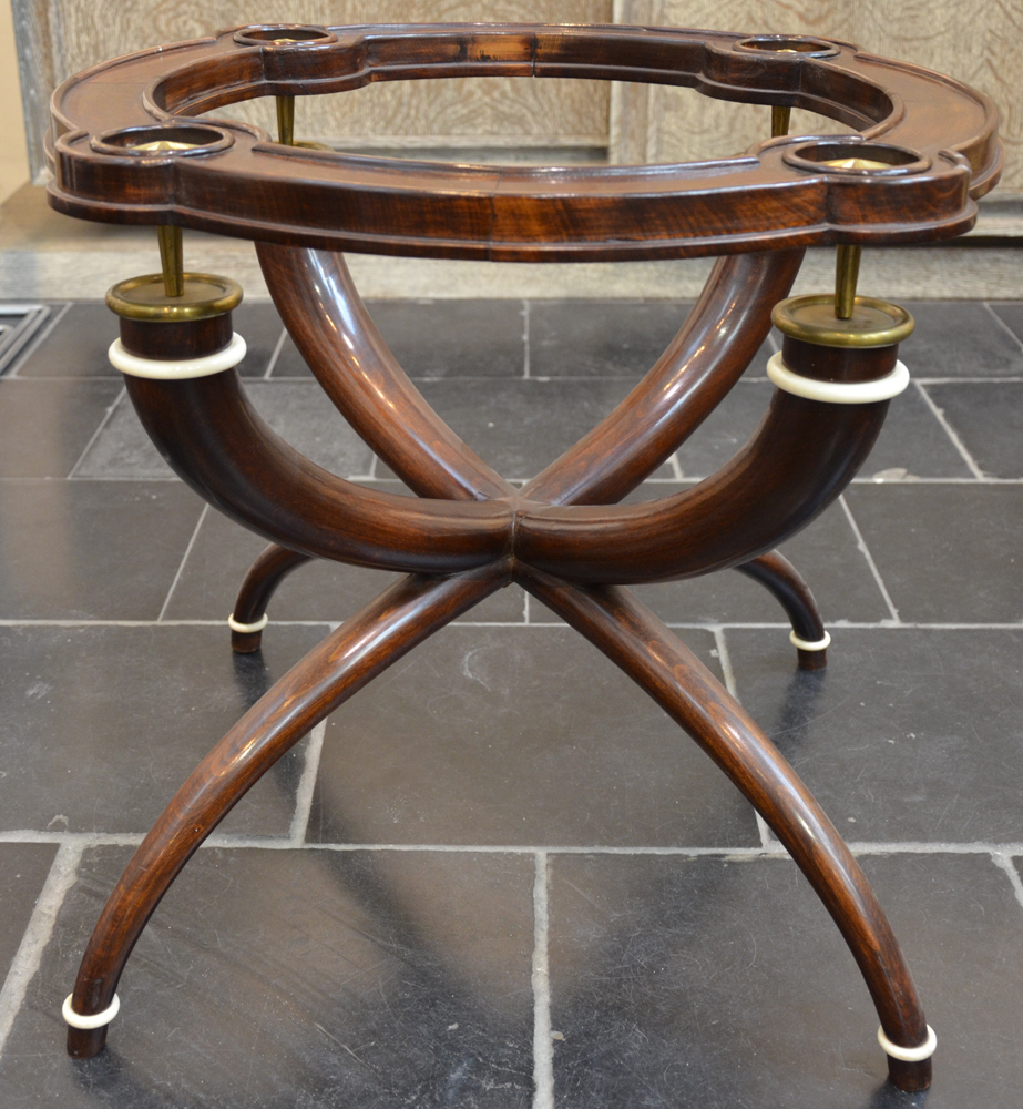 Vintage design occasional table 1940s — The table without the glass top<br>
