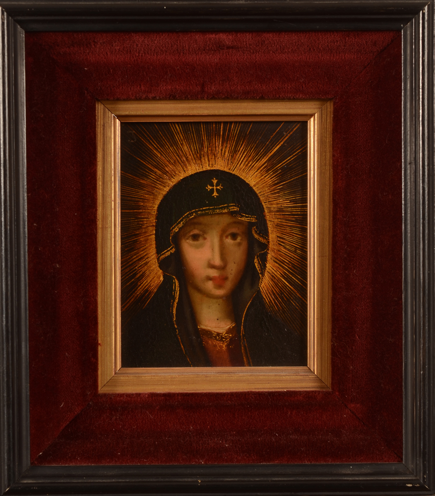 Old Master — the painting with its frame, forming a pait with the Christ portrait