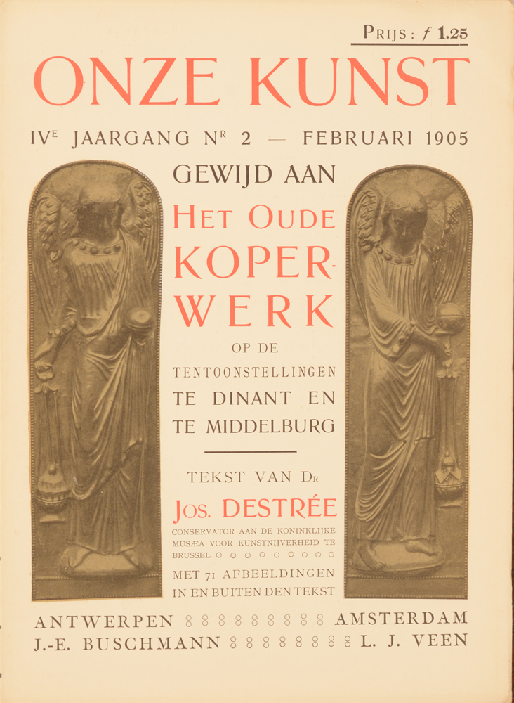 Onze Kunst 1905 — Cover of a number on base metal objects