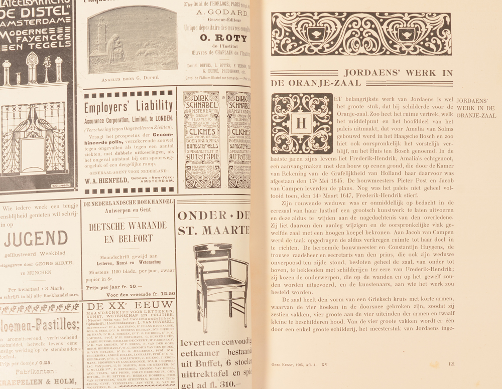 Onze Kunst 1905 — Detail, issues with old publicity