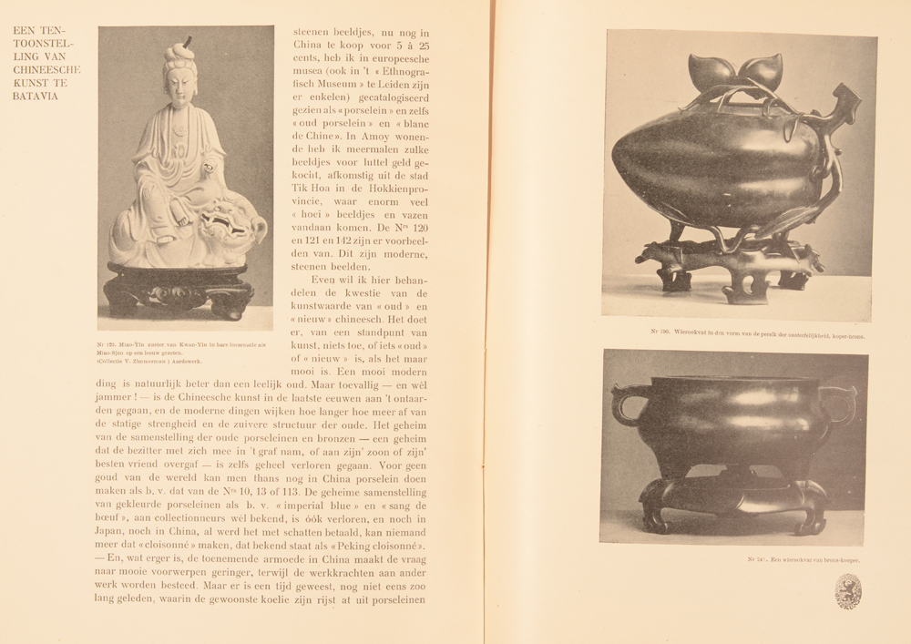 Onze Kunst 1906 — Article on chinese art
