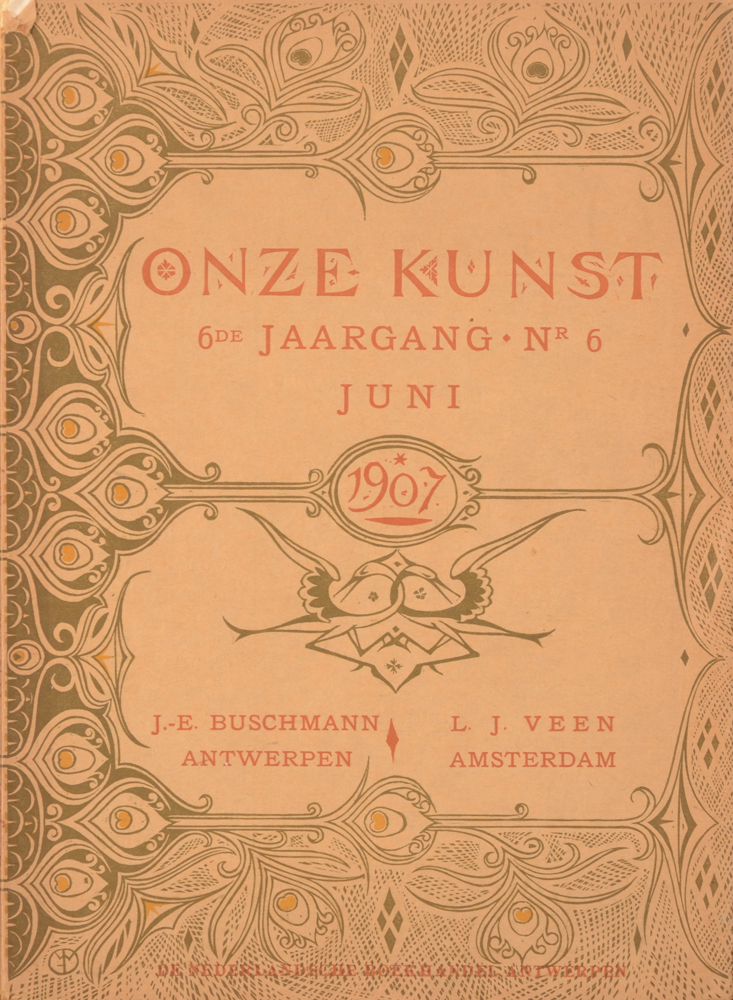 Onze Kunst 1907 — June cover