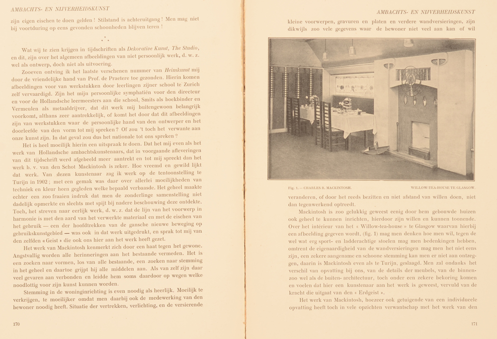 Onze Kunst 1907 — Article on Mackintosh