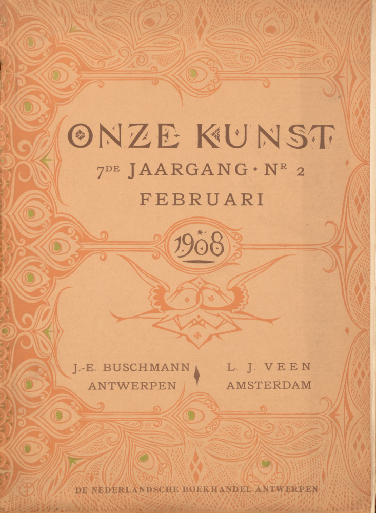 Onze Kunst 1908 — February loose issue