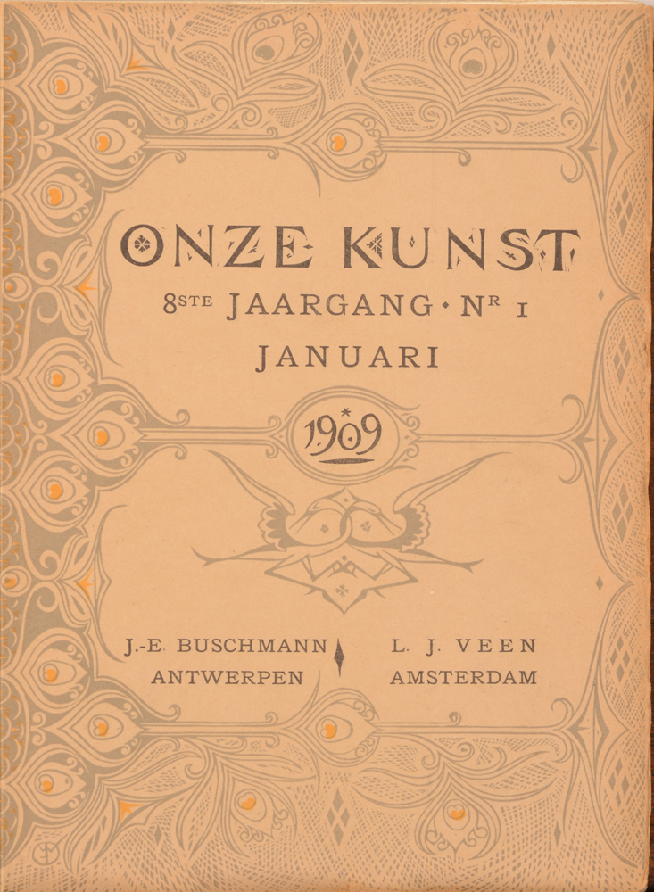 Onze Kunst 1909 — Cover of the January number