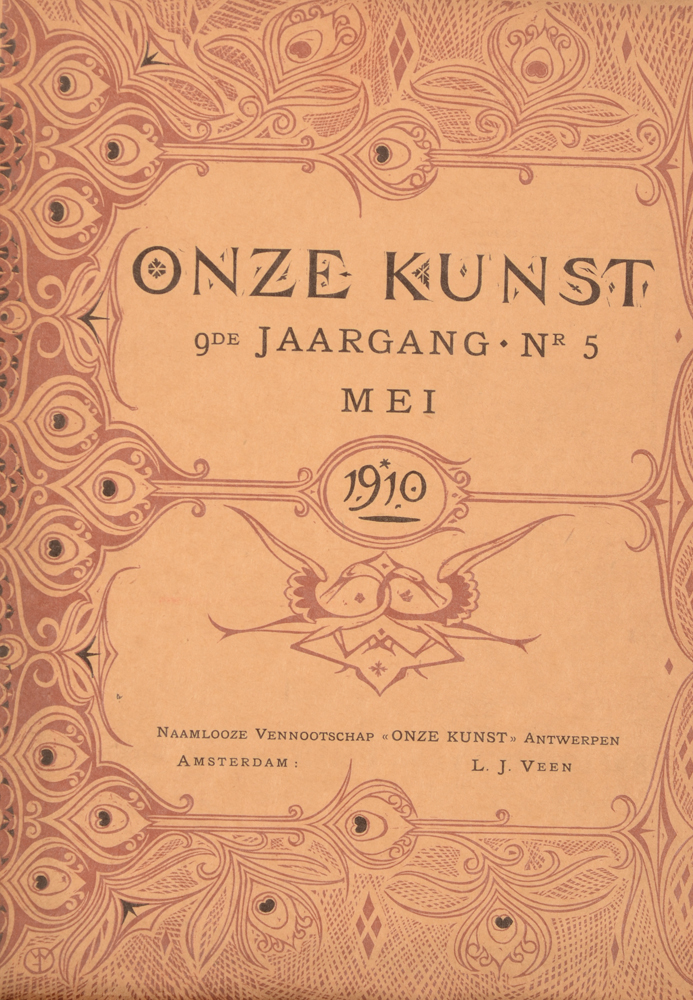 Onze Kunst 1910 — May issue cover