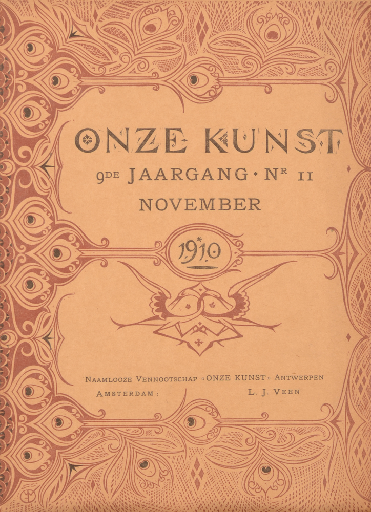 Onze Kunst 1910 — november issue