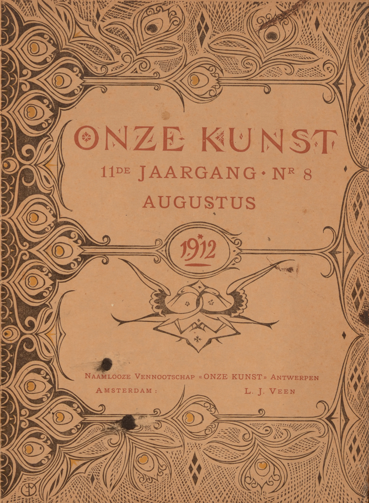 Onze Kunst 1912 — August Issue