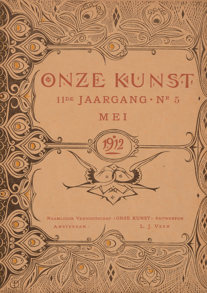 Onze Kunst 1912 — Cover May issue