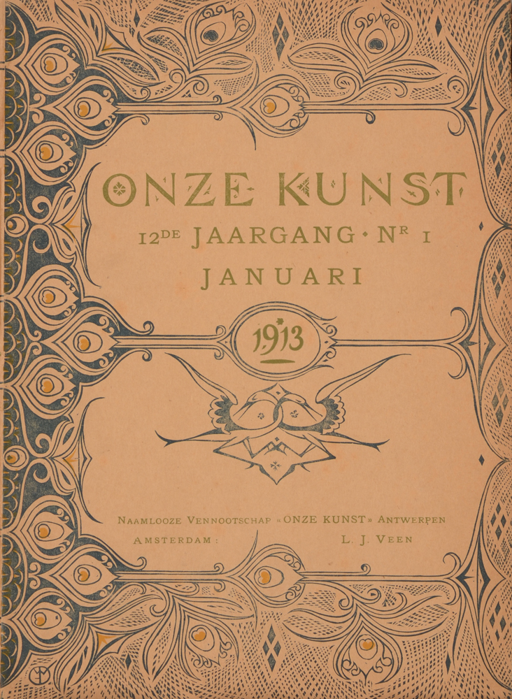 Onze Kunst 1913 — Cover loose issue