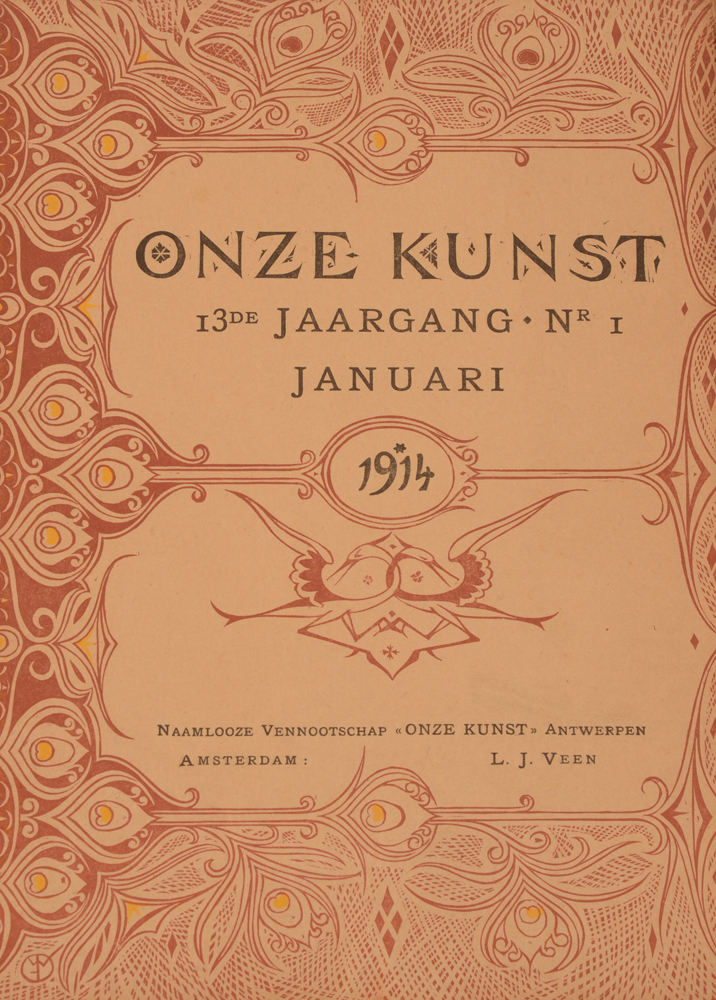 Onze Kunst 1914 — Cover January issue