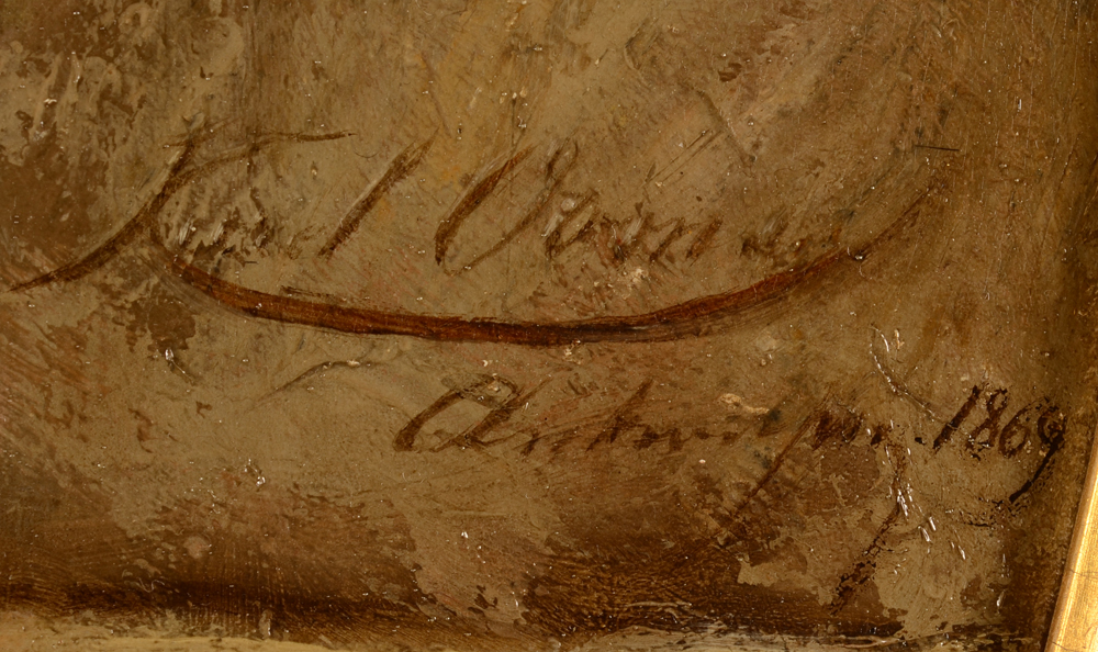 Karel Ooms — Signature of the artist, localisation and date, middle right