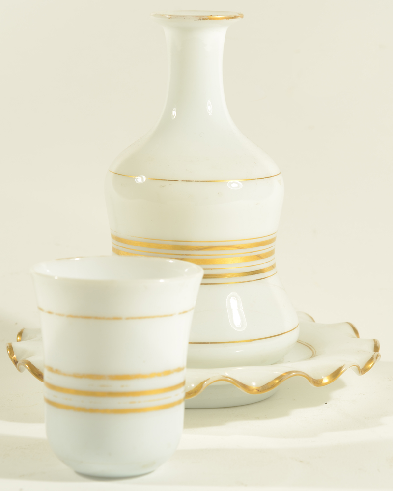 Opaline Drinking Set — The often lacking beaker to close of the carafe