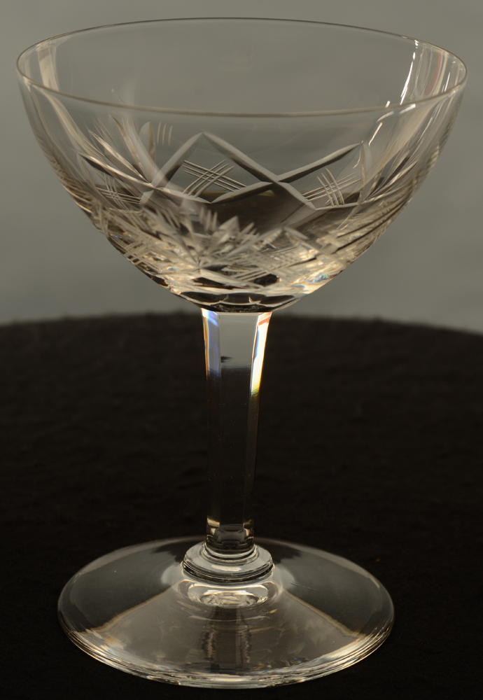 Ouchy champagne coupe — Val St-Lambert Champagne Coupe kristal<br>