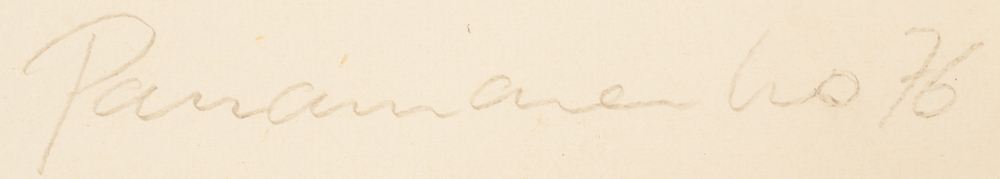 Panamarenko — Signature of the artist and date, bottom right in pencil