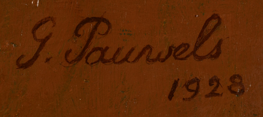 Gaston Pauwels — signature of the artist and date, top right