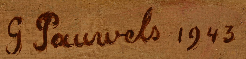 Gaston Pauwels — <p>Signature of the artist and date , top right</p>