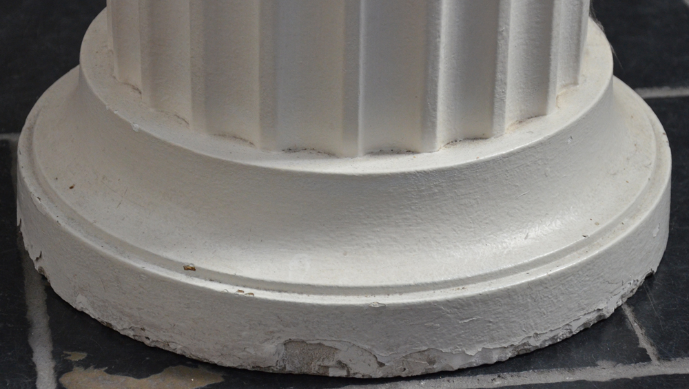 Pedestal plaster — <p>Detail of the base, showing the wear</p>