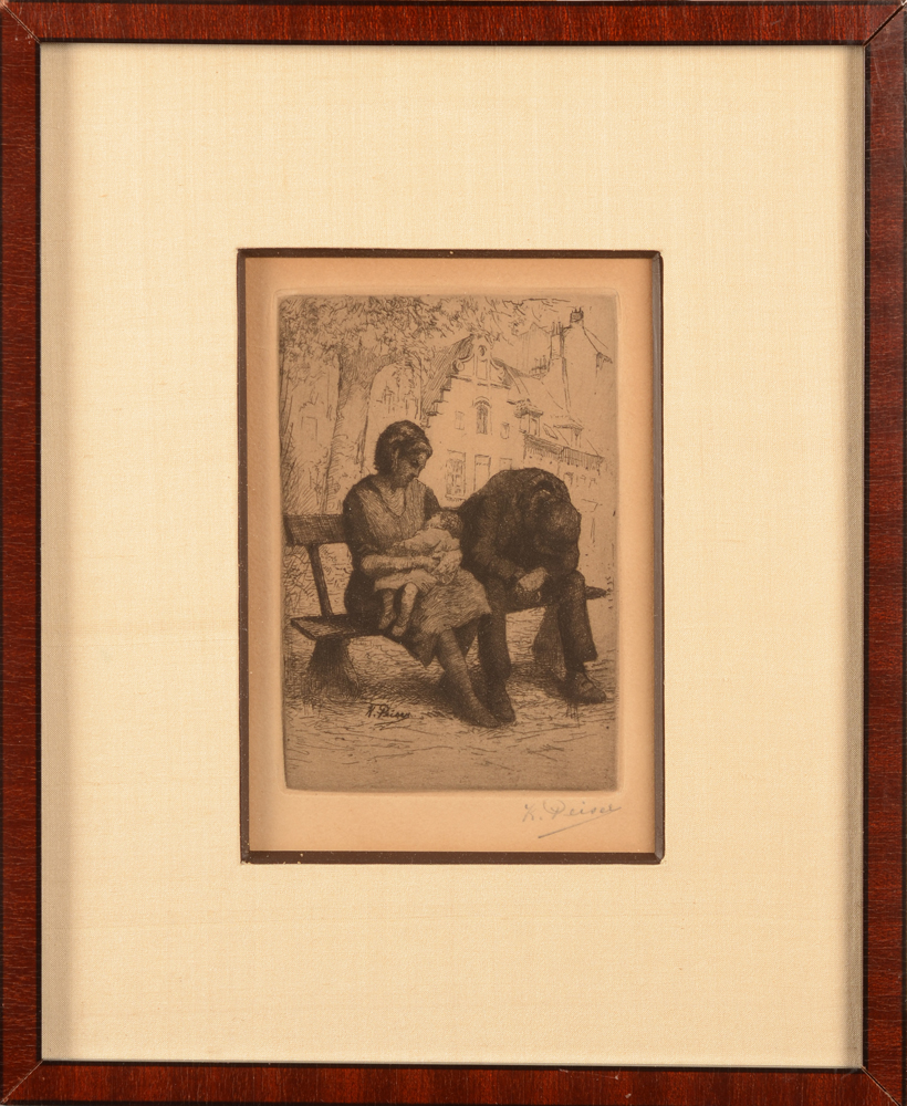 Kurt Peiser — the etching with its modern frame
